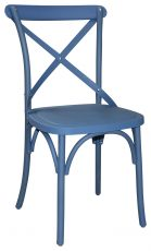 Block & Chisel blue cross back dining chair