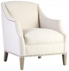 Block & Chisel beige velvet upholstered occasional chair