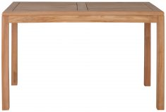 Block & Chisel rectangular teak wood dining table
