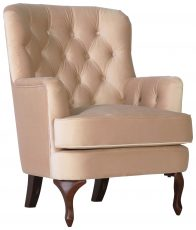 Block & Chisel camel upholstered occasional chair