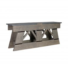 Herbert Console Table - Distressed Unique Console Table with Slate top