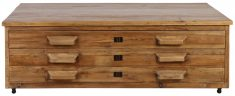 Block & Chisel rectangular recycled elm coffee table