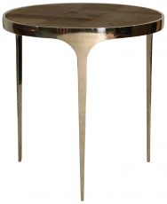 Block & Chisel round side table with recycled elm top and stainless steel base