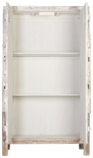 Block & Chisel oriental antique white 2 door wardrobe