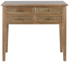Block & Chisel teak console table
