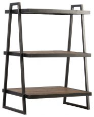 Block & Chisel Old Elm bookshelf with metal frame