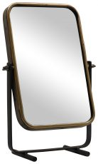 Block & Chisel table mirror with antique gold frame
