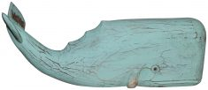 Block & Chisel blue wooden whale sculpture