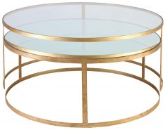 Block & Chisel round glass top nesting coffee tables