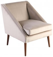 Block & Chisel champagne velvet upholstered occasional chair