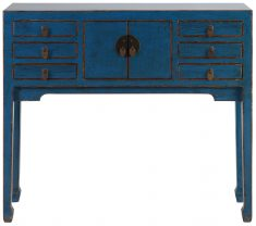 Block & Chisel blue wooden console