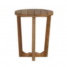 Outdoor round teak side table