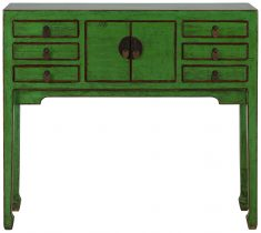 Block & Chisel green wooden console