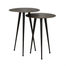 block and chisel metal side table