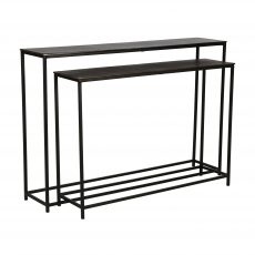 Block and chisel nesting console tables