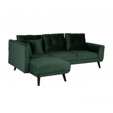 block and chisel corner unit sofa bed in green