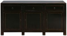 Block & Chisel black wooden sideboard