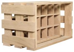 Block & Chisel 15 bottle wooden wine crate