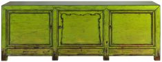Block & Chisel green distressed wooden sideboard