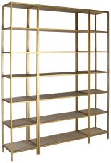 Block & Chisel iron and rattan bookshelf