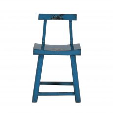 Blue chinese chair