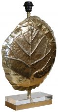 Block & Chisel steel lampbase with antique brass finish