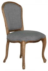 Block & Chisel grey upholstered french inspired dining chair