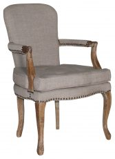 Block & Chisel oatmeal upholstered dining armchair