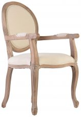 Block & Chisel carver spa back upholstered dining chair with wooden frame