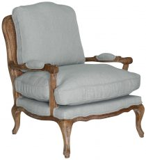 Block & Chisel mint green upholstered french inspired armchair
