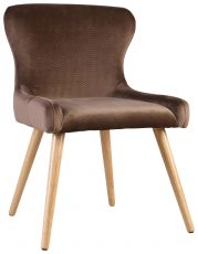 Block & Chisel brown upholstered dining chair