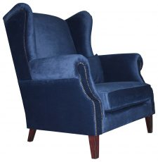 Block & Chisel navy blue velvet loveseat