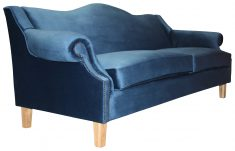 Block & Chisel blue velvet 3 seater sofa