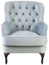 Block & Chisel light blue velvet upholstered occasional chair