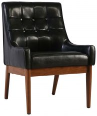 Block & Chisel black upholstered leather occasional chair with PU finish