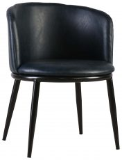 Block & Chisel blue upholstered leather tub chair with PU finish