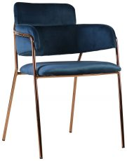 Block & Chisel blue charpie upholstered occasional chair