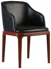 Block & Chisel leather upholstered occasional chair PU finish