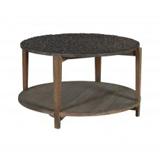 round coffee table with shelf