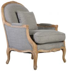 Block & Chisel grey upholstered lounge chair