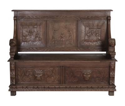 Block & Chisel wooden antique bench