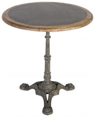Block & Chisel round café table with zinc top