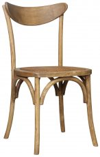 Block & Chisel elm wood sailback dining chair with rattan seat