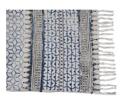 Block & Chisel multi-colour printed cotton rug