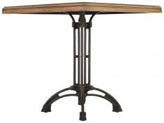 Block & Chisel square café table with zinc top