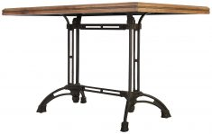 Block & Chisel rectangular dining table with zinc top