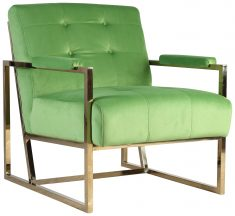Block & Chisel green velvet upholstered occasional chair