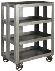 Block & Chisel galvanised iron trolley with castors