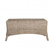 Rattan coffee table or ottoman straight on