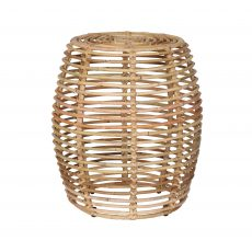 Rattan side table, or stool, round, oval